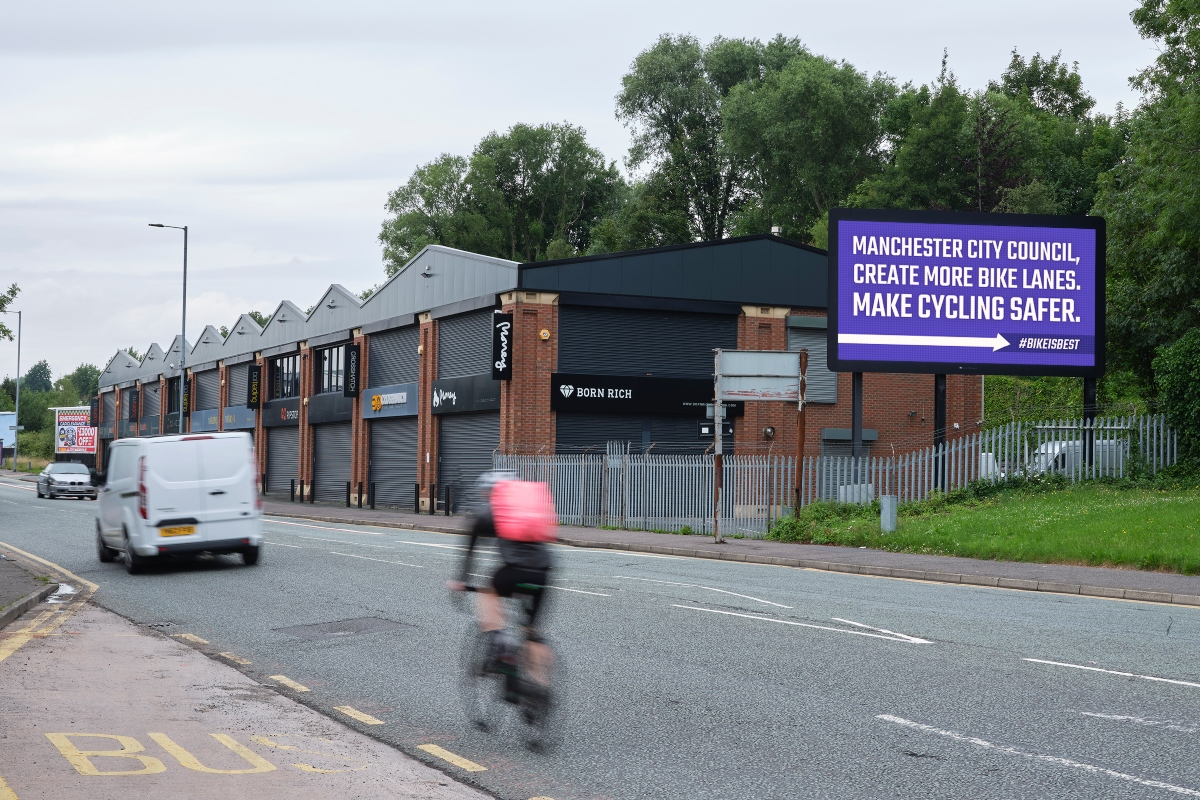 The campaign is using billboards to relay messages to councils and the public