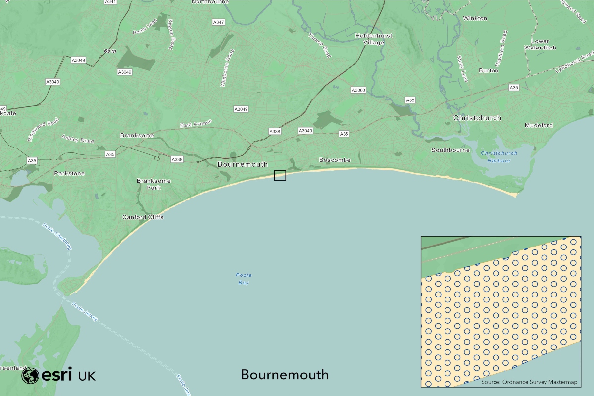 Bournemouth beach has space for an estimated 78,628 socially-distanced visitors