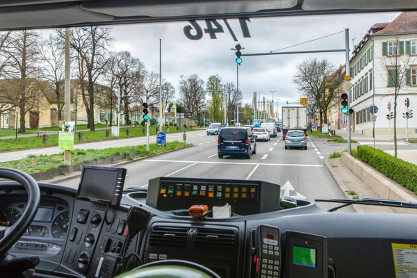 The technology grants fire trucks a green light. Picture: City of Ludwigsburg