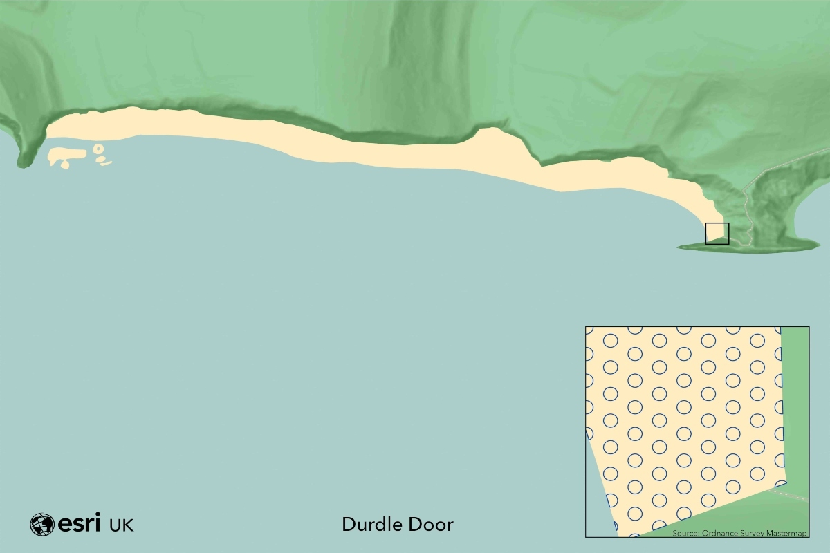 Durdle Door beach has space for an estimated 3,137 socially-distanced visitors