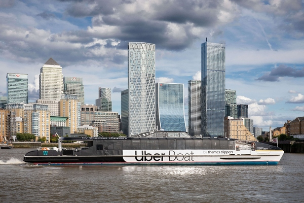 Thames Clippers launches re-branded Uber Boat in London