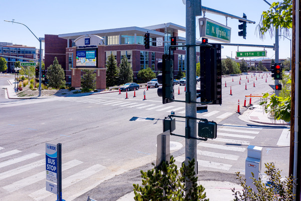 Lidar sensors have been placed at crossing signs and intersections in the city of Reno