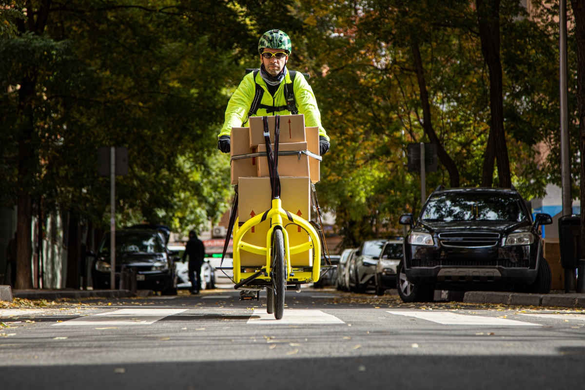 Cargo e-bikes offer a sustainable and green delivery method