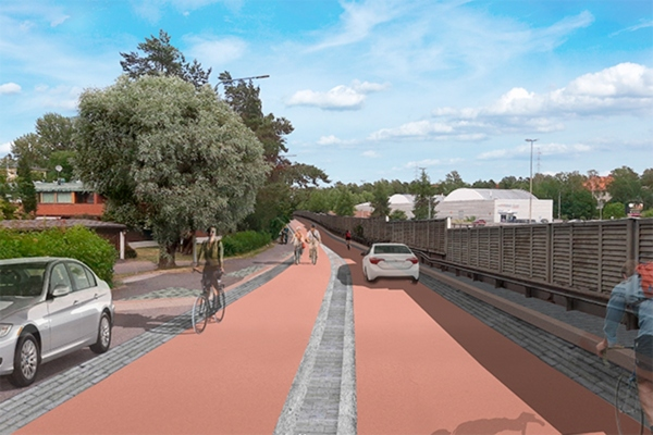Helsinki creates bicycle boulevard