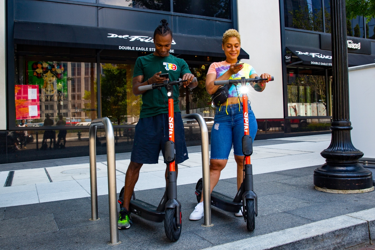 Spin's portfolio of micro-mobility offerings includes electric scooters
