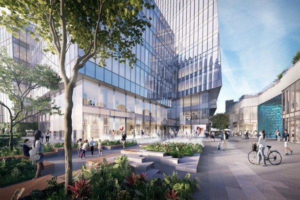Urban landscapes extend into the city's commercial buildings. ©Snøhetta/Brick Visual