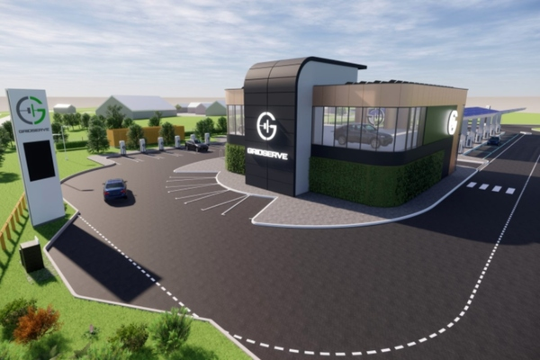 UK's first electric forecourt nears completion
