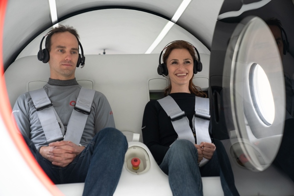 Josh Giegel and Sara Luchian ride the first new form of transportation in over a century
