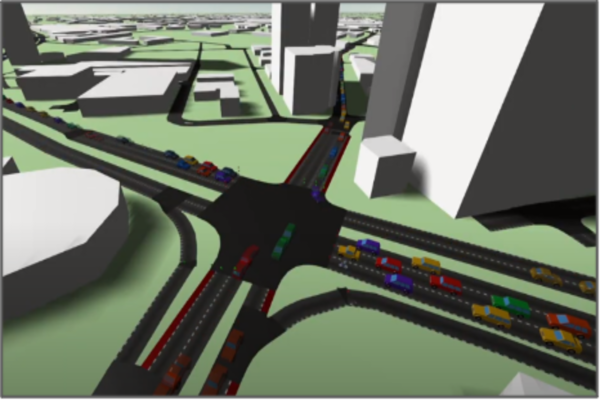 A 3D simulation of a junction in Salford
