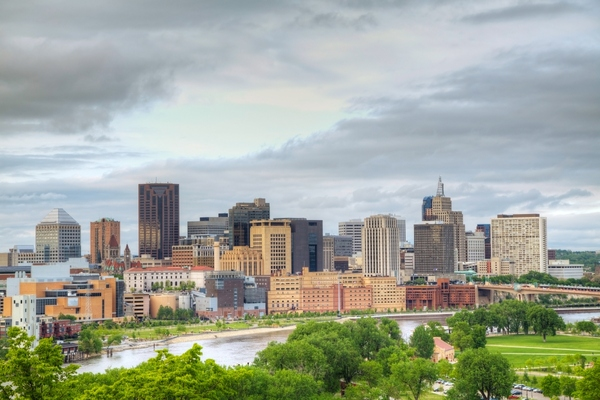 St Paul (above) and Minneapolis want to increase transportation choices for citizens
