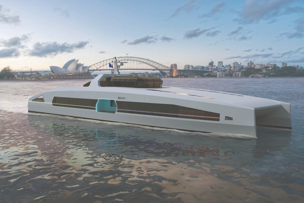 Australian shipbuilder launches series of electric-powered high-speed ferries