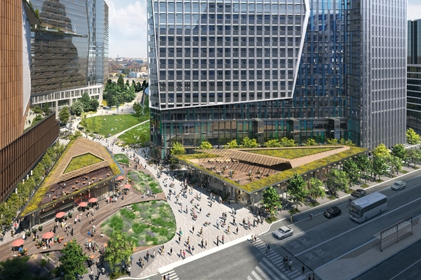 The design promotes a strong connection with the local community. Image: NBBJ
