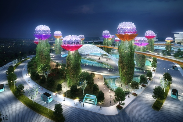 Development will feature automated renewable energy sources and photovoltaic supertrees