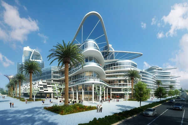 The smart city development will encompass luxury residential towers, futuristic hotels