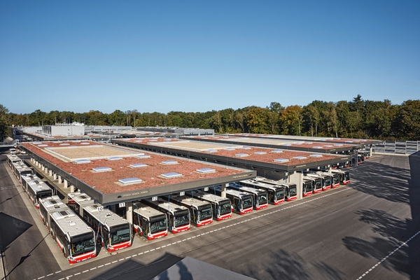 Siemens works with Hamburg transport provider to equip one of the largest e-bus depots in Europe