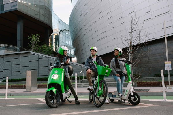 Lime offers all three modes of transportation on one platform