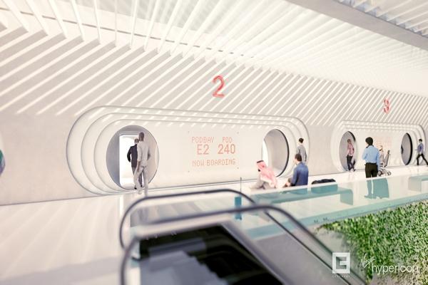 Hyperloop will be able to transport thousands of passengers per hour. Image: Virgin Hyperloop
