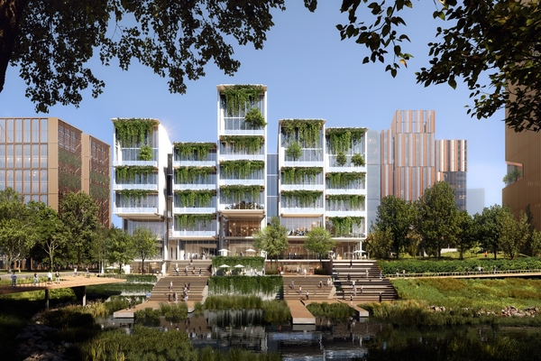 Buildings will be designed to high standards of sustainability. Image: Ennead Architects
