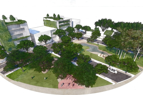 Showing how residential area canopy cover will look. Image: City of Sydney