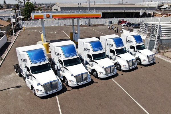 Port of Los Angeles demonstrates hydrogen-powered electric vehicles
