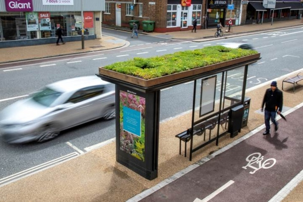 Leicester introduces ecological bus shelters to help tackle climate change