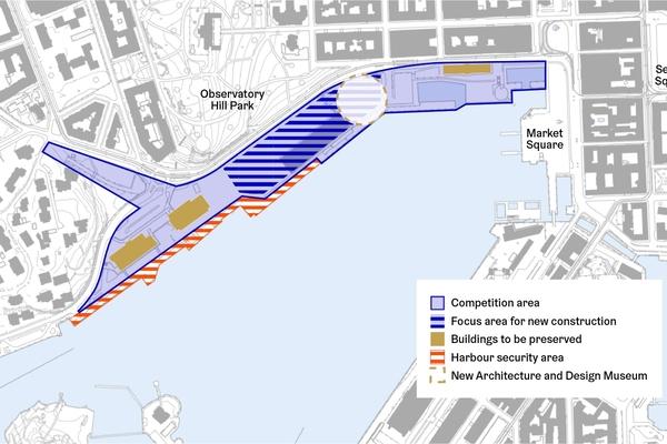 Map shows the designated Makasiiniranta competition area