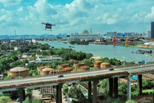 Autonomous aerial vehicles used for Covid-19 relief in Guangdong