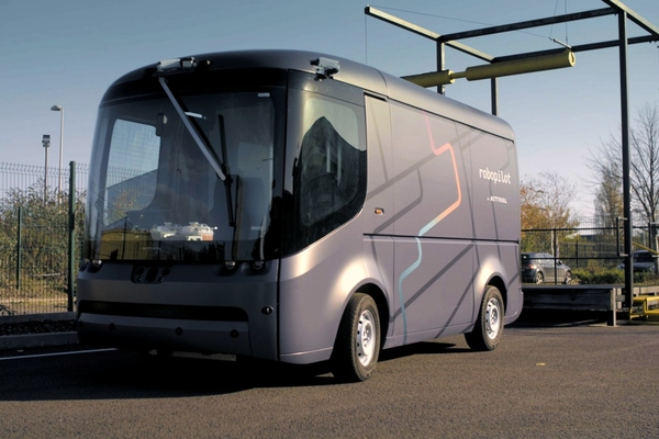Driverless delivery van pilot carried out at UK parcel depot