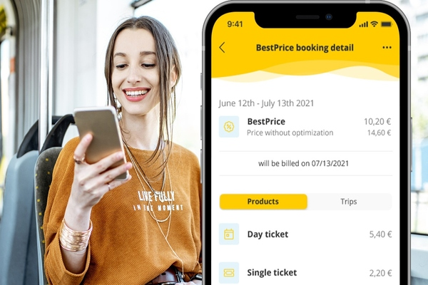 Stuttgart transit authority provides passengers with automated best price option