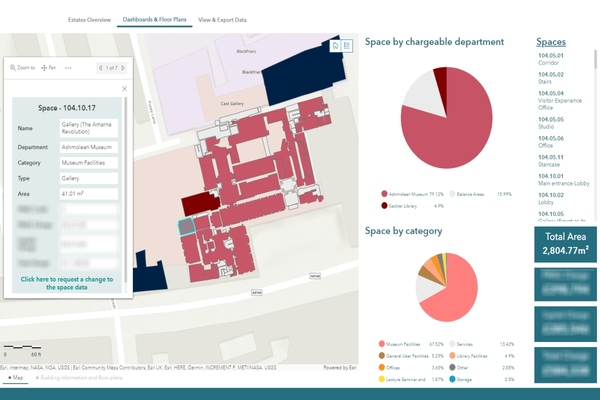 Interactive dashboards such as this show floorplans, usage and cost details