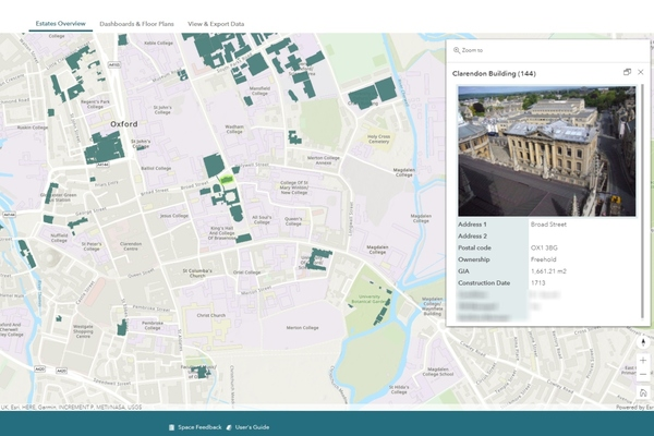 The solution combines 2,000 CAD floorplans into a single interactive map