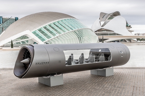 Z01 hyperloop vehicle at City of Arts and Sciences in Valencia