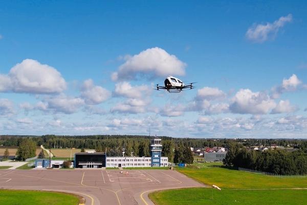 EHang trials parcel delivery drone flights in Estonia
