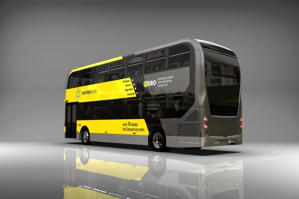 The ADL Enviro400FCEV fuel cell electric bus to be deployed in Liverpool City Region