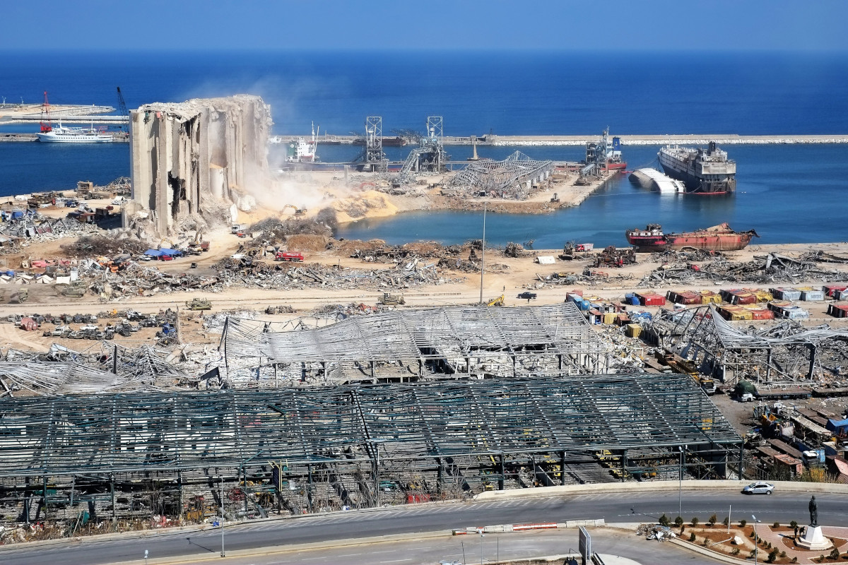 Port of Beirut following 4th August 2020's explosion