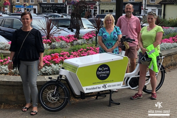 Milton Keynes Council leases its first e-cargo bike to local business