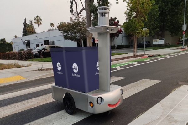 Tortoise's 100 per cent electric, 4mph remote-piloted delivery cart