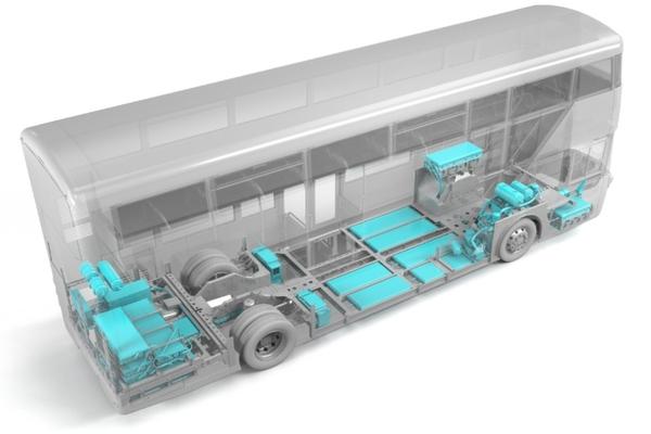 The Streetdeck Electronliner's zero emission powertrain
